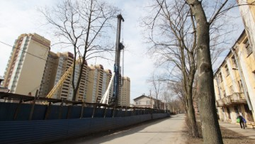 Строительство на Ново-Александровской улице