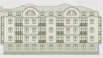 Проект нового здания на Оранжерейной улице, 51а