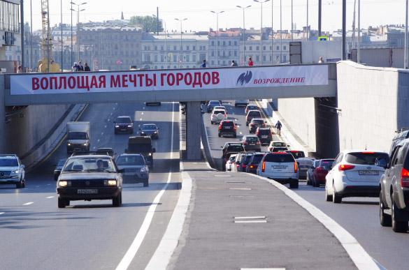 Пироговский тонель, развязка на Пироговской набережной