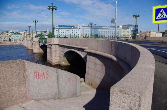 Пироговская набережная, съезд с Сампсониевского моста