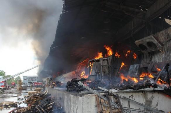 Пожар в Невском районе