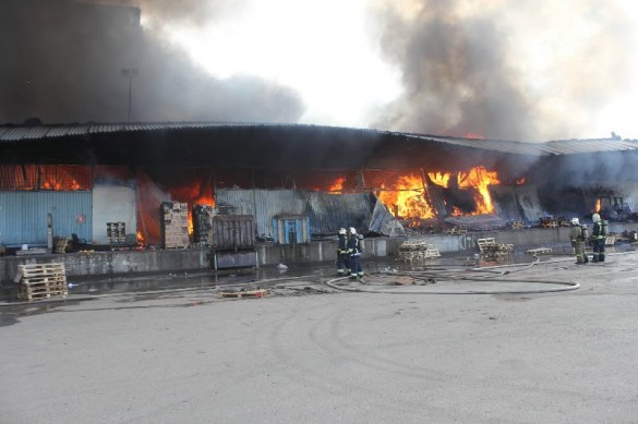 Челиева, 11, пожар на складе