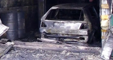 Автомобиль сгорел