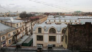 Апраксин двор, вид с крыши