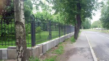Забор парка на Каменном острове