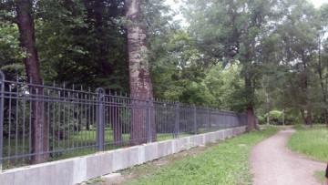 Забор на Каменном острове, парк