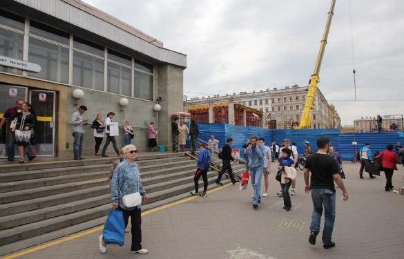 Будущий вестибюль станции «Спасская»