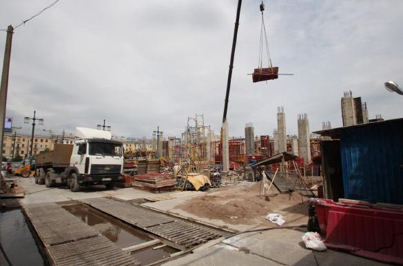Строительство вестибюля станции «Спасская»