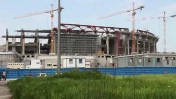 Чашу стадиона «Зенита» на Крестовском острове