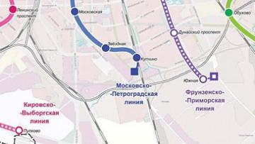 Схема метро, станция «Южная»