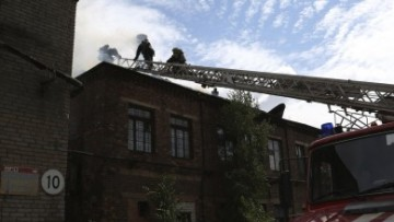 Пожар рядом с царским депо Варшавского вокзала