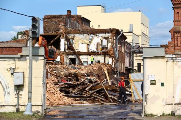 Снос исторического здания в Невском районе