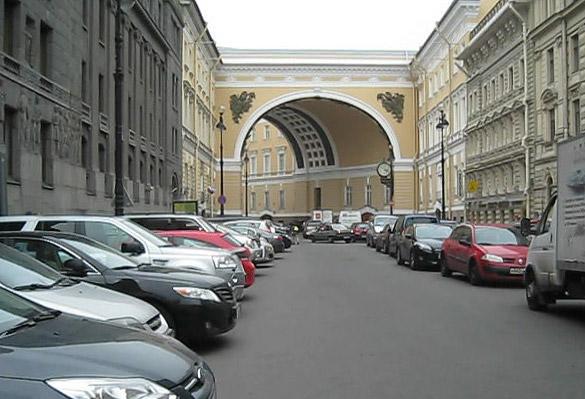 Участок Большой Морской от арки Главного штаба до Невского