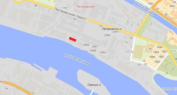 Склад канатной фабрики на Петровском острове