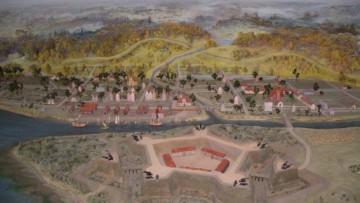 Макет города Ниена с крепостью Ниеншанц