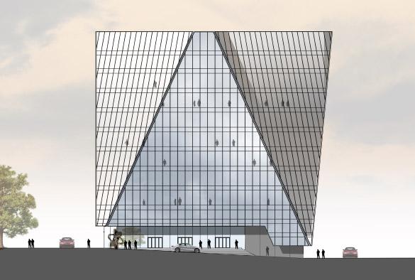 Проект бизнес-центра на Малоохтинском проспекте, 45