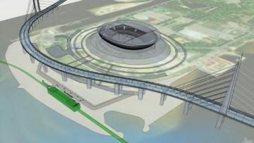 Проект намыва на Крестовском острове