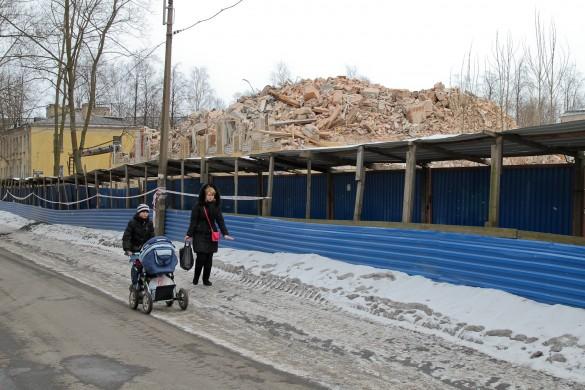 Снос на Ново-Александровской улице
