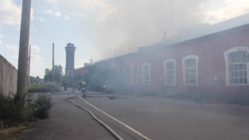 Пожар на территории Варшавского вокзала