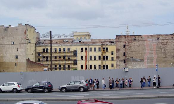 Исторические здания между Смольным проспектом и Тульской улицей