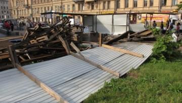 Незаконная стройка у Чкаловской