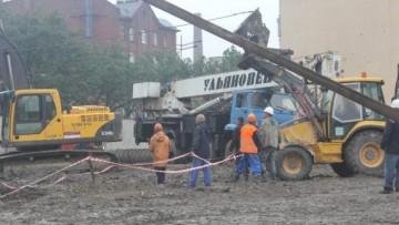 Лиговский, 266, авария с буровой установкой