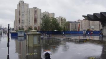 Снесенный кинотеатр «Русь» на Коломяжском проспекте