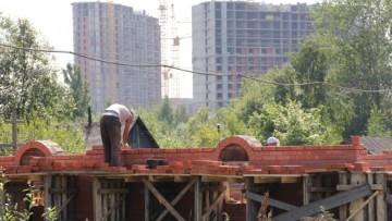 Строительство церкви в деревне Кудрово