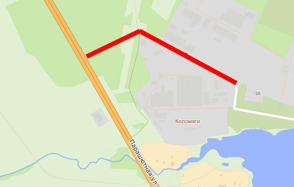 Новая магистраль в Коломягах