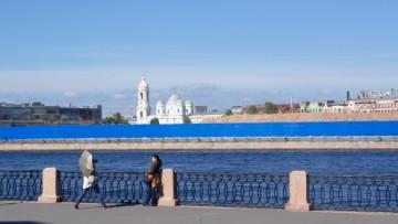 «Набережная Европы», вид с Васильевского острова