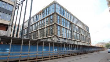 Здания комплекса «Невская ратуша» в момент строительства