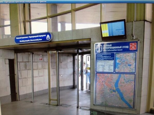 Табло в петербургском метро, время до прибытия поезда