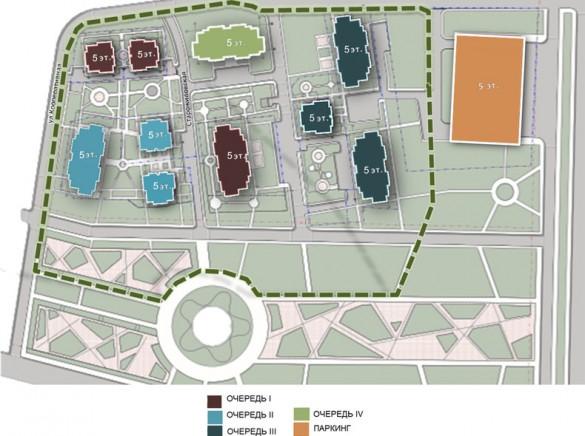 План жилого комплекса Парнас-парк