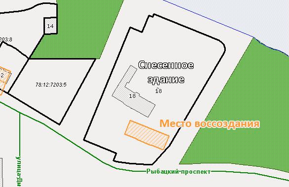 Схема расположения училищного дома