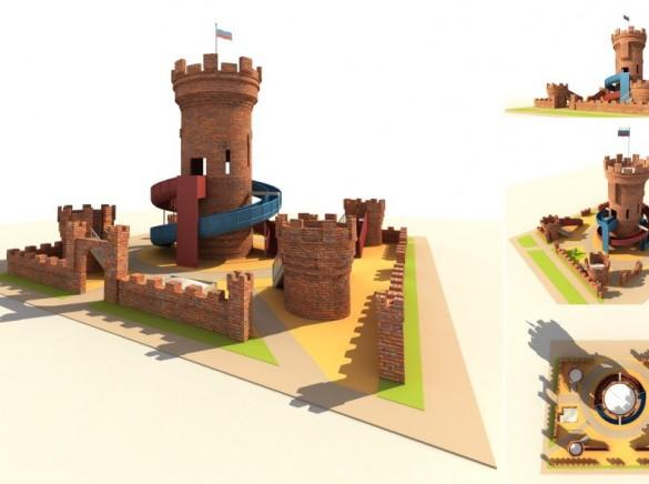 Торфяное, водонапорная башня — детская горка