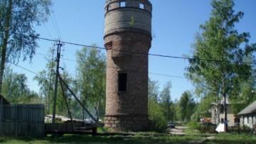 Водонапорная башня в Торфяном