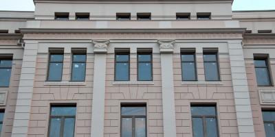 Фасад бизнес-центра на Греческой площади