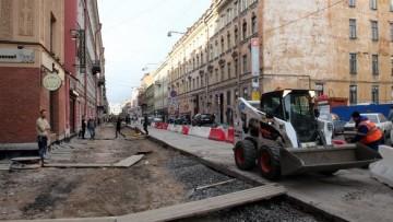 Реконструкция тротуаров на улице Рубинштейна