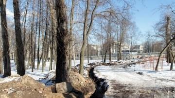 Траншея на Фарфоровском кладбище