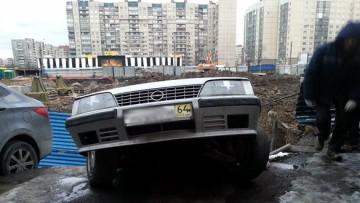 Упавшая машина