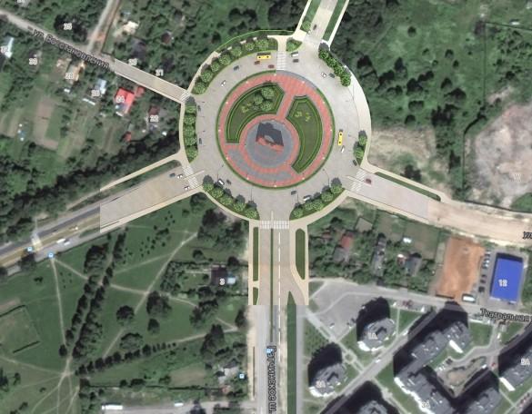 Площадь Арки Победы в Красном Селе