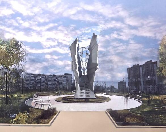 Памятник воинам 6-й роты 2-го батальона 104-го Гвардейского парашютно-десантного полка 76-й (Псковской) дивизии ВДВ на улице Бадаева