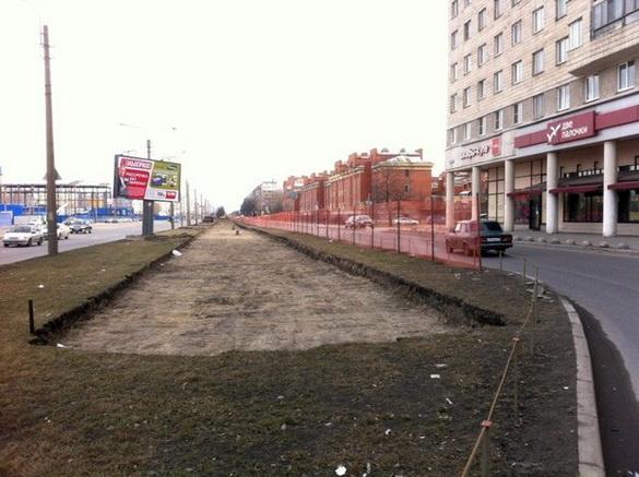 Бухарестская улица, новая трамвайная линия