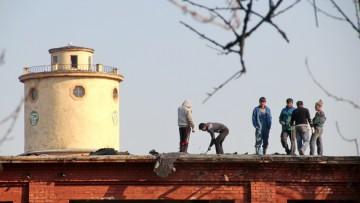 Демонтаж крыши на Цимбалина