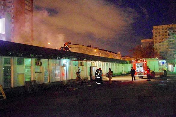 Пожар на Северном рынке