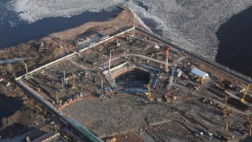 Стройплощадка Лахта-центра
