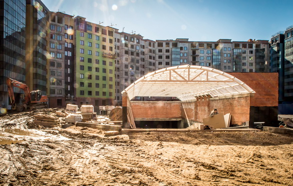 Стройплощадка ЖК Самое сердце на Архитектора Данини