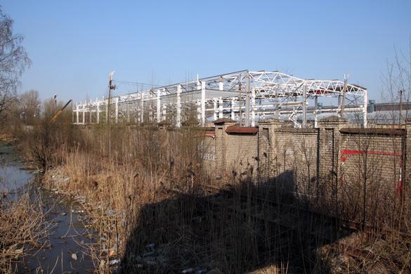 Строительство трамвайного завода на Цимбалина