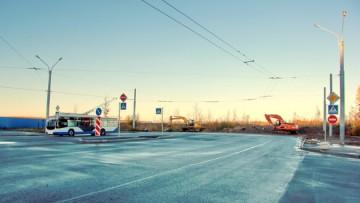 Троллейбусное кольцо на Ленинском проспекте