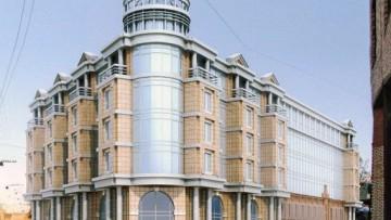 Бизнес-центр на углу улицы Чапаева и Казарменного переулка